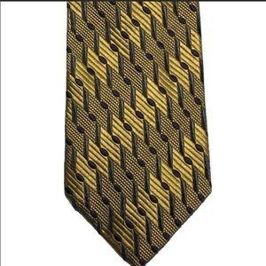 Ermenegildo Zegna gold and blue tie.Made in Italy